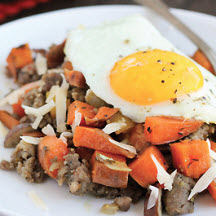 Sweet Potato and Maple Sausage Skillet