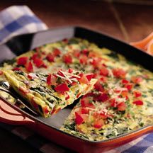 Vegetable Frittata with Asiago Cheese