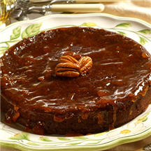 Flourless Chocolate-Pecan Cake with Apricot Glaze