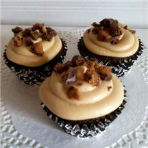 Gabby's Chocolate Peanut Butter Dream Cupcakes