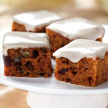 Mini Pumpkin and Date-Nut Cakes with Maple Glaze