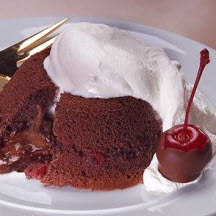 Molten Chocolate-Cherry Cakes