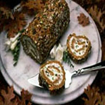 Pumpkin Roll with Pistachios