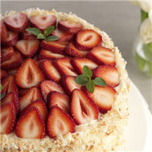 Strawberry Coconut Cake