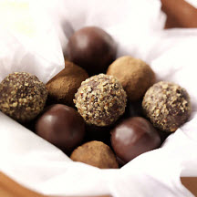 Bittersweet Chocolate Truffles with Parmesan