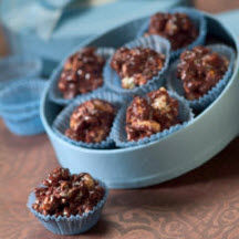 ... and peanuts add crunch to these delectable honeyed chocolate truffles