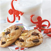Crunchy Monkey Chocolate Chip Cookies