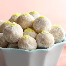 No-Bake Lemon Drop Cookies
