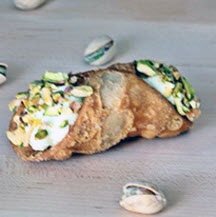 Cannoli Filled with Pistachio Ricotta
