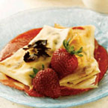 Chocolate Chip and Strawberry Crepes