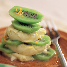 Kiwifruit Stacks with Cinnamon Mascarpone