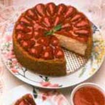 Light and Luscious Strawberry Cheesecake with Fresh Strawberry Sauce