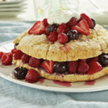 Ricotta Shortcake Ring w/Very Berry Cherry Sauce