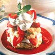 Strawberry Shortcake with Fresh Sauce