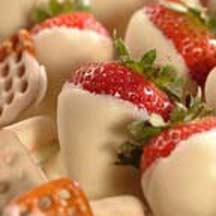 White Dipped Fruit