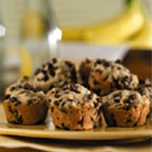 Banana Mini Chip Muffins