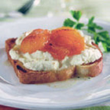 Lorena Garcia's Apricots and Ricotta Cheese Toast