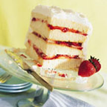 Spring Fling Layered White Cake At CooksRecipes