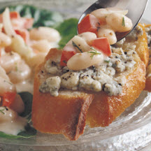 Tuscan Bean Salad with Gorgonzola Bruschetta