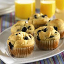 Very Berry Blueberry Muffins Recipe at CooksRecipes.com