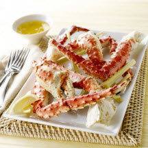 Grilled Alaska Crab Legs with Dipping Sauce
