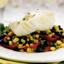 Pollock with Black Bean Compote