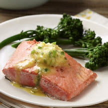 Alaska Sockeye Salmon With Orange Ginger Compound Butter