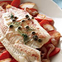 alaska sole piccata aromatic fish topped naan banana fish barbecued