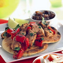Aromatic Fish-Topped Naan