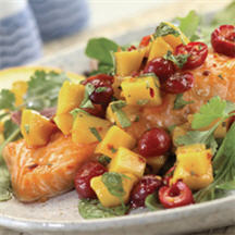 Caramelized Salmon with Cherry Salsa