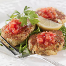 Crabcakes with Watermelon Dipping Sauce