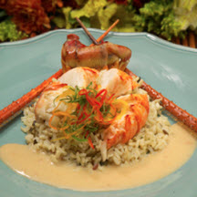 Creamy Lobster Medallions with Wild Rice