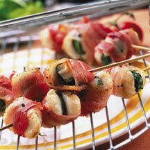 Grilled Sage Scallops Wrapped in Bacon