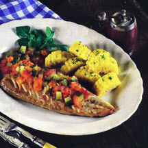 Grilled wahoo recipe at for Wahoo fish recipes