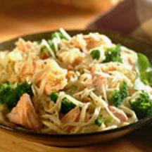Linguine Salmon And Broccoli Toss