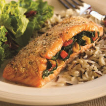 Spinach-Stuffed Baked Salmon