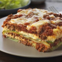 Beef and Zucchini Noodle Lasagna