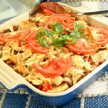 Beef Nacho Casserole Recipe at CooksRecipes.com