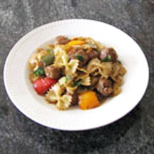 Farfalle with Italian Sausage and Peppers