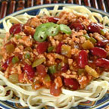 Chili Smothered Linguine
