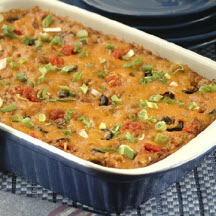 Bean and Rice Enchilada Casserole