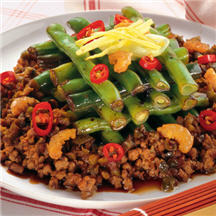 Ground Pork with Chinese Long Beans