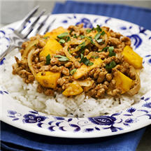 Ground Pork with Mangos