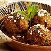 meatballs with cotija cheese in a cinnamon-scented chipotle chile ...