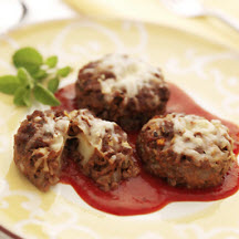 Mini Meatloaves with Asiago Cheese