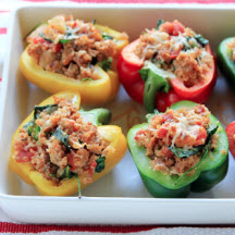Quinoa and Sausage Stuffed Peppers
