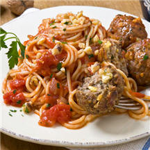 Smart Spaghetti & Meatballs with Tomato Sauce