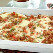 ... lasagna noodles in this South-of-the-Border-inspired casserole