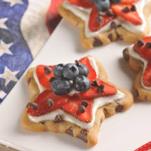 Chocolate Chip Stars and Stripes Cookies