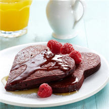 Cocoa-Kissed Red Velvet Pancakes